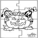 Kreativitet - Puzzle Halloween