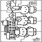 Kreativitet - Puzzle Hello Kitty