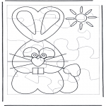Kreativitet - Puzzle rabbit