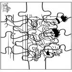 Kreativitet - Puzzle Sesame Street