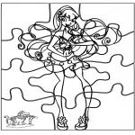 Kreativitet - Puzzle Winx