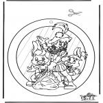 Pricking cards - Raamhanger Sint 2