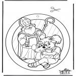 Pricking cards - Raamhanger Sint 3