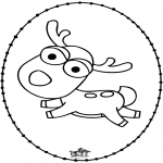 Broderkort - Reindeer - Stitchingcard