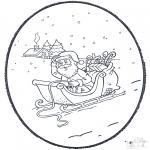 Pricking cards - Santa  prickingcard