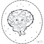 Broderkort - Simba stitchingcard