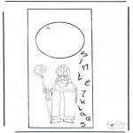 Pricking cards - Sint deurhanger