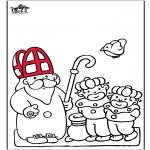 Pricking cards - Sinterklaas 52