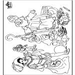 Pricking cards - Sinterklaas 54