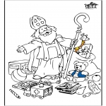 Pricking cards - Sinterklaas 55