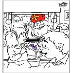 Pricking cards - Sinterklaas 56