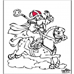 Pricking cards - Sinterklaas 58