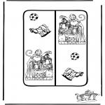 Pricking cards - Sinterklaas boekenlegger