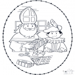 Broderkort - Sinterklaas borduurkaart 1