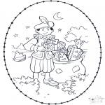 Broderkort - Sinterklaas borduurkaart 2