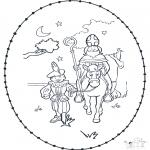 Broderkort - Sinterklaas borduurkaart 3