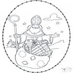 Broderkort - Sinterklaas borduurkaart 4