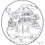 Broderkort - Sinterklaas Borduurkaart