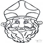 Pricking cards - Sinterklaas masker