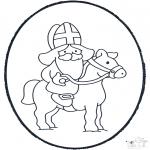 Pricking cards - Sinterklaas Prikkaart 3