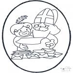 Pricking cards - Sinterklaas Prikkaart 5