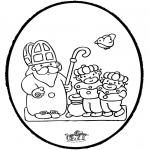 Pricking cards - Sinterklaas Prikkaart 7