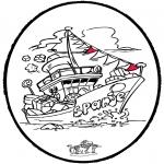 Pricking cards - Sinterklaas Prikkaart 8