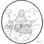 Pricking cards - Sinterklaas prikplaat 1