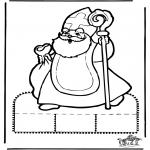 Pricking cards - Sinterklaas Prikplaat 10