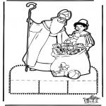 Pricking cards - Sinterklaas Prikplaat 13