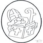 Pricking cards - Sinterklaas Prikplaat 2