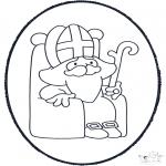 Pricking cards - Sinterklaas Prikplaat 4