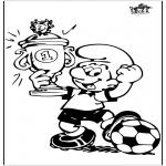 Litt av hvert - Smurf with cup