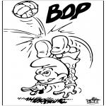 Litt av hvert - Smurf with football
