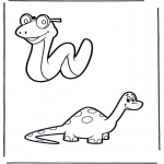 Dyr - Snake and dino