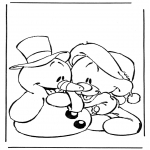 Tegneseriefigurer - Snowman and bear