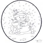Pricking cards - Snowman prickingcard