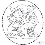 Vinter - Snowman stitching card
