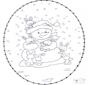 Snowman stitchingcard