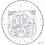 Broderkort - Snowwhite stitchingcard