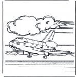 Litt av hvert - Space shuttle landing