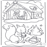 Jul - Squirrel and manger