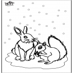Vinter - Squirrel and rabbit