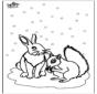 Squirrel and rabbit