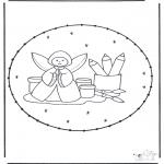 Broderkort - Stitchingcard angel