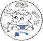 Stitchingcard baby 2