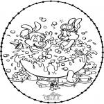 Broderkort - Stitchingcard Bobo
