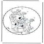 Broderkort - Stitchingcard cartoon 7