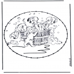 Broderkort - Stitchingcard cartoon 8