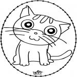 Broderkort - Stitchingcard cat